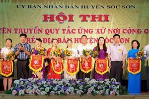 Sóc Sơn tổ chức hội thi tuyên truyền quy tắc ứng xử nơi công cộng