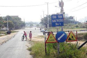Con đường dài nửa cây số mịt mù bụi sau 9 năm quy hoạch