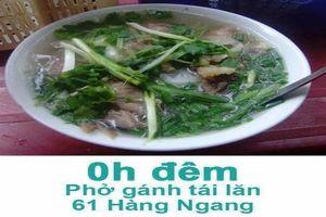 Dân mạng khoe bản đồ ẩm thực Hà Nội 'từ vươn thở đến tiếng thơ'