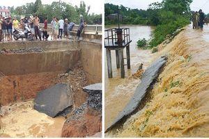 Cả nước tiếp tục mưa lớn, nước lũ làm sập cầu, cô lập hoàn toàn nhiều địa phương