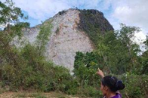 Quảng Bình: Dân nơm nớp lo sợ vì mỏ đá nằm sát nhà