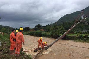 Hoàn lưu cơn bão số 3 gây thiệt hại không nhỏ đến lưới điện các tỉnh phía Bắc