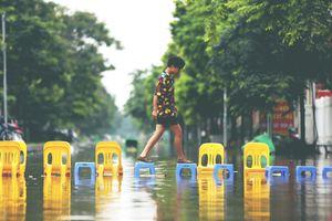 Bất ngờ với hình ảnh khu đô thị Hà Nội ngập lụt bị lầm tưởng thành... điểm du lịch nổi tiếng