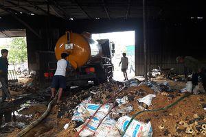 Hỏa hoạn thiêu rụi xưởng sản xuất củi trấu ở Hà Tĩnh