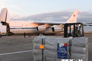 Syria bắt đầu phân phát hàng viện trợ nhân đạo của Pháp