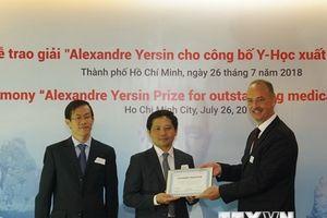 Trao giải Alexandre Yersin cho 4 nghiên cứu y học xuất sắc