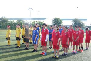 Sóc Trăng: Hơn 50 nữ cán bộ công đoàn chuyên trách tham gia hội thao