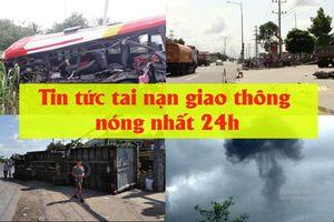Tin tức tai nạn giao thông nóng nhất 24h: Xe khách va chạm xe đầu kéo, ít nhất 9 người bị thương