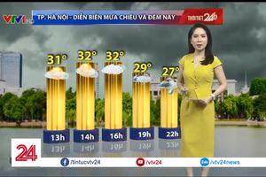 Dự báo thời tiết: Hà Nội dự báo sẽ có mưa lớn kéo dài