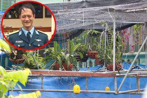 Máy bay quân sự rơi tại Nghệ An: Chàng phi công rất yêu hoa phong lan