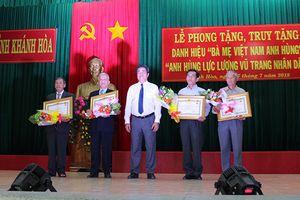 Khánh Hòa có thêm 4 Anh hùng LLVT nhân dân và 35 Bà mẹ Việt Nam Anh hùng