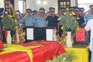 Lễ truy điệu 2 phi công hy sinh trong khi làm nhiệm vụ bay huấn luyện