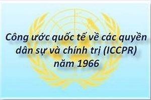 Nâng cao nhận thức về nội dung của Công ước ICCPR