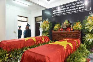 Lễ viếng và Lễ truy điệu hai phi công hy sinh trong vụ rơi máy bay