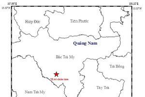 Lại xảy ra động đất ở khu vực huyện Bắc Trà My