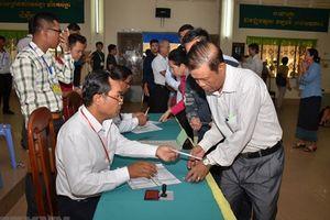 Ủy ban Bầu cử quốc gia Campuchia thông báo số liệu phiếu bầu