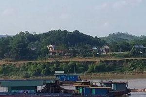 Phú Thọ: 'Dán bùa' nạo vét cảng, DN hút cát bất chấp quy định
