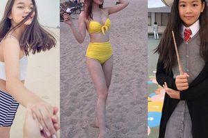 2 cô con gái của Quyền Linh, Hoa Thúy và Mỹ Lệ lớn phổng phao khiến khán giả ngỡ ngàng