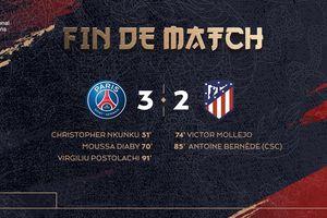 PSG thắng Atletico Madrid sau màn rượt đuổi tỷ số kịch tính