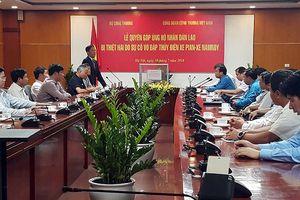 Ngành Công Thương ủng hộ gần 1,9 tỷ giúp nạn nhân sự cố thủy điện ở Lào