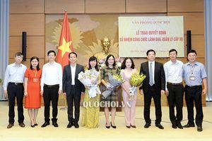 Bộ GTVT, Văn phòng Quốc hội, TANDTC bổ nhiệm nhân sự mới