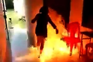 Người phụ nữ đổ xăng đốt chết chồng 'hờ' bị tạm giữ