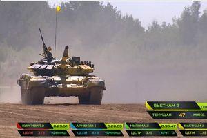 Cập nhật thành tích của đội tuyển Việt Nam 2 tại giải đấu Tank Biathlon
