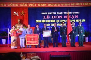 Ban Tuyên huấn Khu ủy Khu V- Xứng danh anh hùng