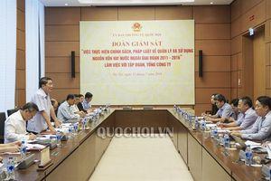 Đoàn giám sát của Ủy ban Thường vụ Quốc hội làm việc với Tập đoàn điện lực Việt Nam