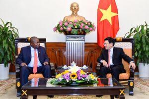 Phó Thủ tướng, Bộ trưởng Ngoại giao Phạm Bình Minh tiếp Đại sứ Mô-Dăm-Bích tại Việt Nam