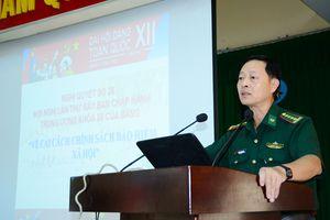 Bộ đội Biên phòng TP Hồ Chí Minh tổ chức học tập, quán triệt, triển khai Nghị quyết Trung ương 7