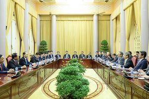 Chủ tịch nước tiếp đoàn Ủy ban Kinh tế Nhật-Việt Keidanren