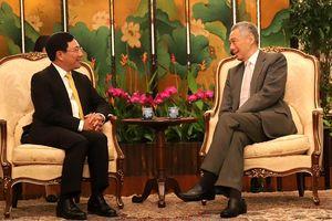 Quan hệ đối tác chiến lược Việt Nam-Singapore phát triển tích cực