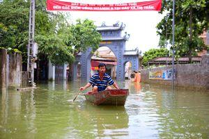 Tình hình ngập lụt tại các huyện trên địa bàn TP Hà Nội