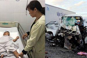 Quặn lòng tiếng khóc con thơ gọi mẹ trong vụ xe rước dâu va chạm container khiến 13 người tử vong