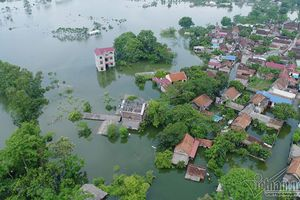 Hơn 6.000 người phải sơ tán do ngập lụt ở Chương Mỹ, Hà Nội