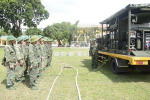 Một ngày huấn luyện của bộ đội phòng hóa