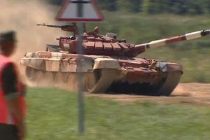 T-72B3 đứt xích tại Tank Biathlon 2018