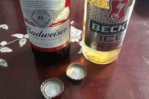 Người tiêu dùng lo ngại vì ron nhựa nắp chai bia Budweiser và Beck's Ice bị phồng rộp