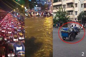Nóng trên mạng xã hội: Dân Hà Nội khóc ròng vì 'combo' mưa - tắc - ngập