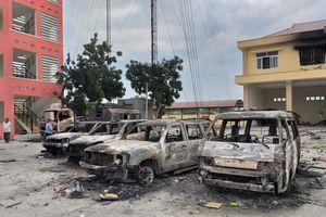 Khởi tố, bắt giam 31 bị can trong các vụ đốt phá ở Bình Thuận