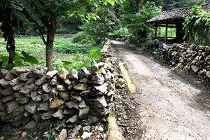 Độc đáo nhà sàn đá ở Đàm Thủy