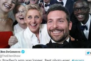 Bức ảnh gây bão tại giải Oscar khiến Twitter chập chờn