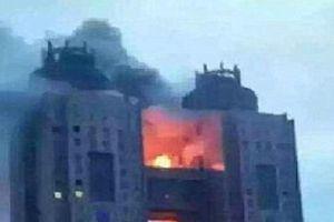 Ảnh độc vụ cháy khách sạn 'khủng' nhất Triều Tiên