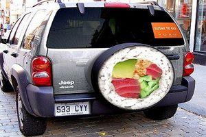 Đã mắt ngắm biển quảng cáo sushi siêu độc lạ