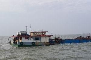 BĐBP Bà Rịa - Vũng Tàu bắt tàu khai thác khoáng sản trái phép