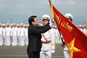Hải quân Việt Nam duyệt đội hình trên biển kỷ niệm 60 năm thành lập