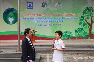 Chương trình 'Sáng tạo vì môi trường' đến với học sinh Hà Nội
