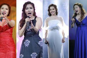 Ngọc Anh thay 4 váy trong liveshow để đời bên các 'hoàng tử'