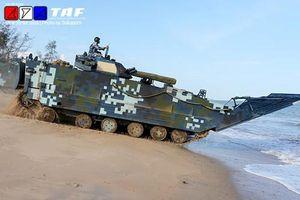 Xe tăng Trung Quốc tập đánh bờ biển ở Thái Lan